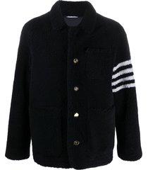 navy 4-bar shearling jacket