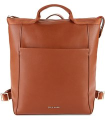 cole haan women's leather convertible backpack - british tan