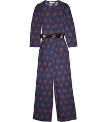 penny polka dot jumpsuit in navy