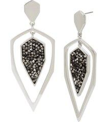 jessica simpson geometric orbital earrings