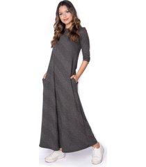vestido gris  skanda pandora