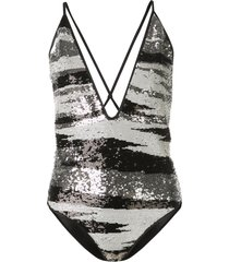missoni mare sequinned swimsuit - white