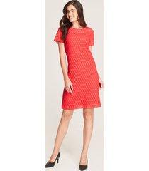 vestido midi tejido bordado rojo 6