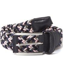 anderson belt's elastic woven belt | multi pink & grey |b0667 ne41
