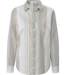 blouse streepdessin van peter hahn beige