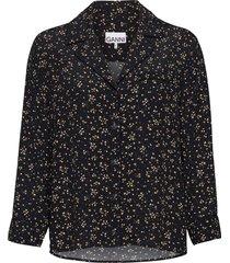 shirt overhemd met lange mouwen zwart ganni