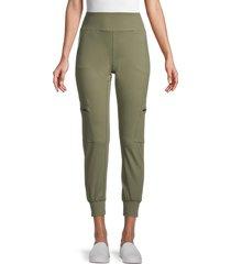nine west women's cargo-pocket jogger pants - olive tree - size xl