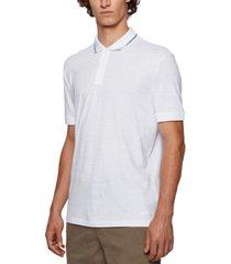 boss men's slub-cotton polo shirt