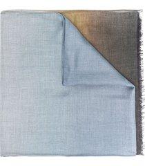 altea fine-knit gradient-effect scarf - grey