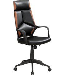 monarch specialties executive office chair in black brown