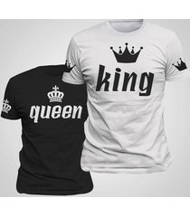 king queen lovers printing couple clothes tee t shirt summer 2017 new casual o-n