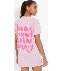 overdye babydoll t-shirtjurk, pink
