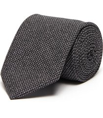 square embroidered wool tie