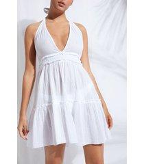 calzedonia short cloth dress woman white size tu