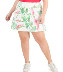 ideology plus size palms tiered skort, created for macy's
