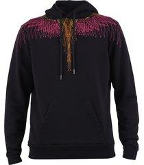 marcelo burlon embroidered cotton hoodie
