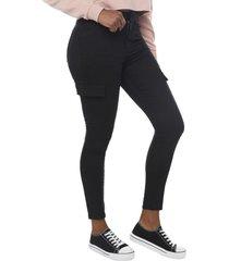 jeans cargo básico negro  corona