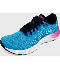 tenis running azul-violeta-blanco asics gel-excite 8