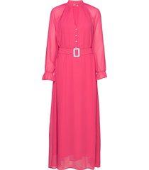 dress w. buckle closure at waist maxiklänning festklänning rosa coster copenhagen
