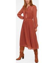 mango women's flowy midi dress
