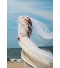 romantyczna dwuczęściowa sukienka ślubna