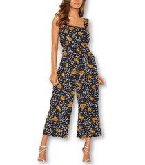 ax paris mixed floral frill sleeve jumpsuit
