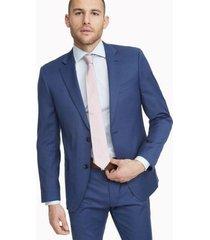 tommy hilfiger men's regular fit essential solid suit blue - 48r