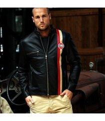 handmade gulf vintage10th anniversary black leather jacket, leather jackets
