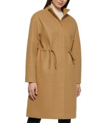 kenneth cole petite single-breasted anorak coat