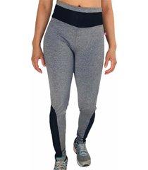 calça legging cintura alta recorte feminina mescla/preto