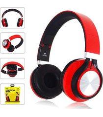 audífonos, fe-006 auriculares plegables con mic-rojo