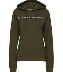 oh hoodie rib hoodie trui groen tommy hilfiger