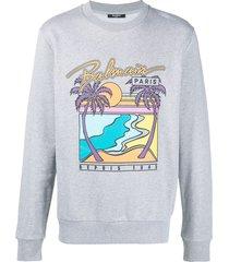 exotic destination graphic sweatshirt