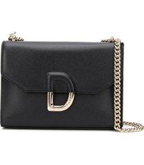 dkny bolsa tiracolo com placa d - preto