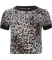 camiseta tiras tejidas color negro, talla 10