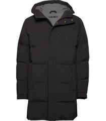 hooded down filled coat gevoerd jack zwart junk de luxe