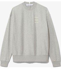 proenza schouler white label ps ny sweatshirt grey mel/flax small ps ny m