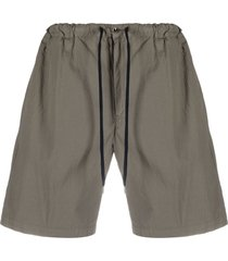 pt01 textured drawstring-waist shorts - neutrals
