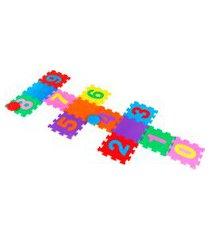 brinquedo tapete amarelinha liso carlu eva 15 peças