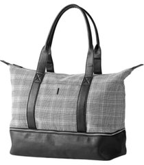 cathy's concepts personalized glen plaid luggage tote