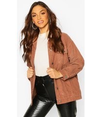 oversized cord trucker jacket, brown