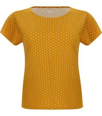 camiseta amarilla puntos blancos
