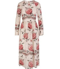 silk dress with dotted flowers print