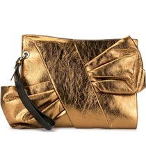 paule ka bow-detail clutch - dourado