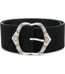 iro strome buckled suede belt - bla01 black