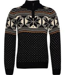 pullover knitwear half zip jumpers svart blend