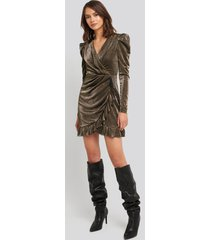 trendyol bronze flywheel detailed dress - copper