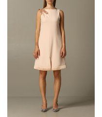 emporio armani dress emporio armani dress in crêpe with bow