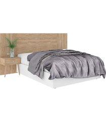 cabeceira box de casal extensível 100% mdf toscana 1,40x1,60 cedro madeirado robel móveis