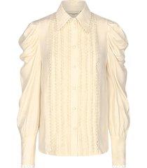 blouse met pofmouwen ultra  naturel